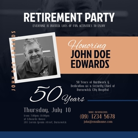 Retirement Invitation Instagram Post template