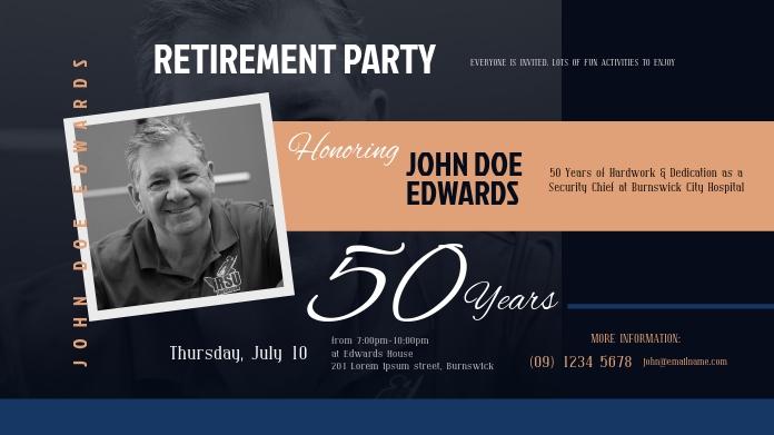 Retirement Invitation Twitter Post template