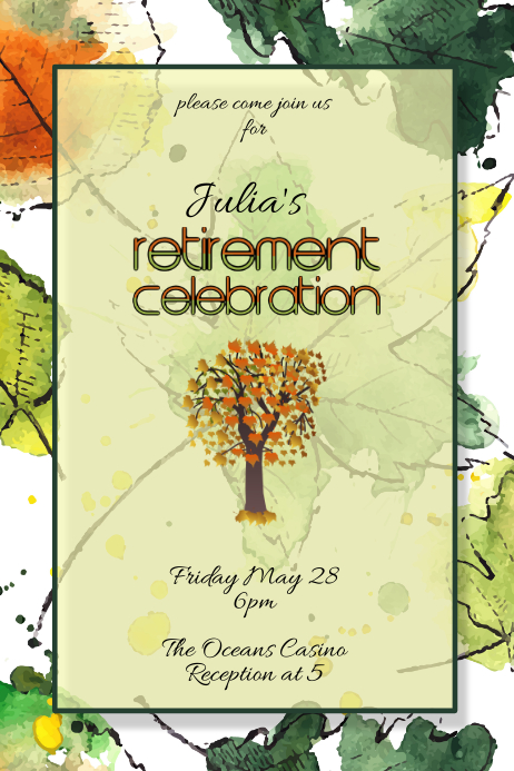 retirement party celebration invitation