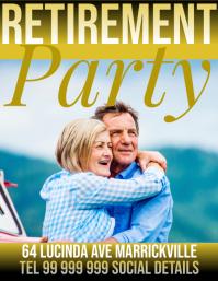 retirement party Рекламная листовка (US Letter) template