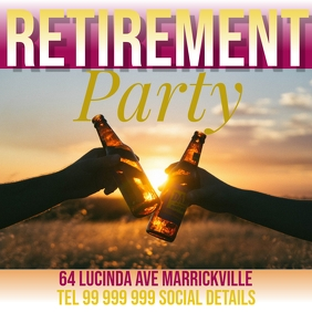 retirement party Publicación de Instagram template