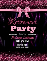 Retirement Party Flyer (format US Letter) template
