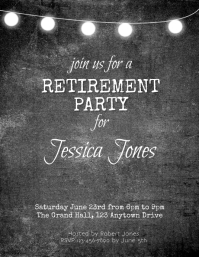 retirement party flyer Pamflet (VSA Brief) template