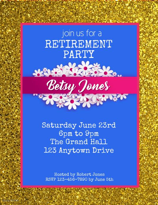 retirement party flyer