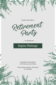 Superb Retirement Party Flyer Template  Flyer Outline