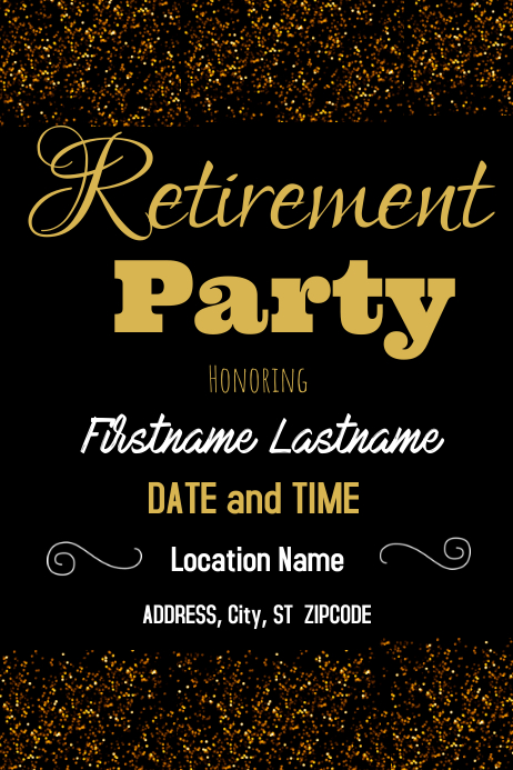 Retirement Party · Retirement Flyer · Retirement Flyer Template