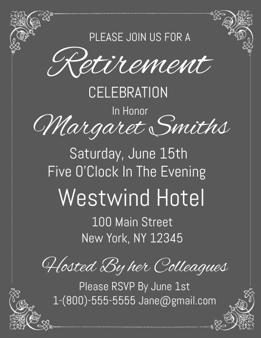 retirement party template