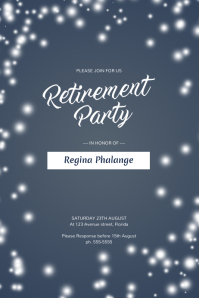 Perfect Retirement Party Flyer Template
