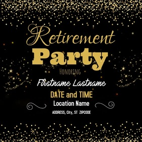 retirement party flyer templates