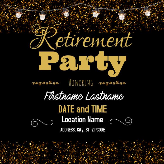 Retirement Party Instagram 帖子 template