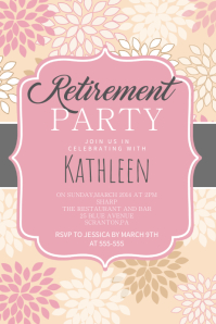 Retirement Party Poster Template Affiche