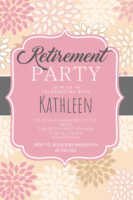 copy of retirement party poster template