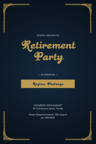 Retirement Party Flyer Template Póster