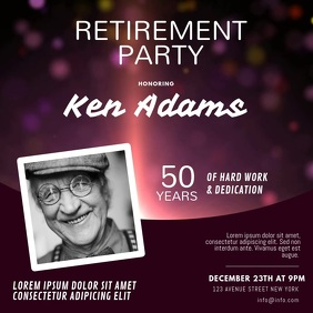 Retirement Party Instagram invitation video Cuadrado (1:1) template