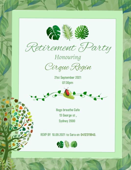 Retirement Party Poster 传单(美国信函) template