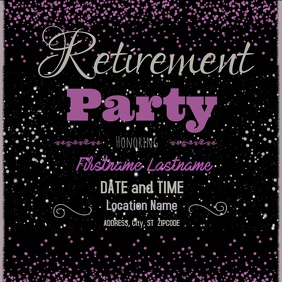Retirement party Instagram na Post template