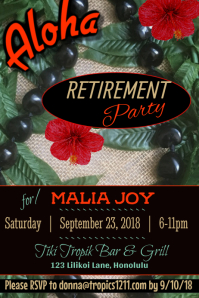 Retirement Party Poster Template