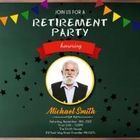 Retirement party social media post Publicación de Instagram template