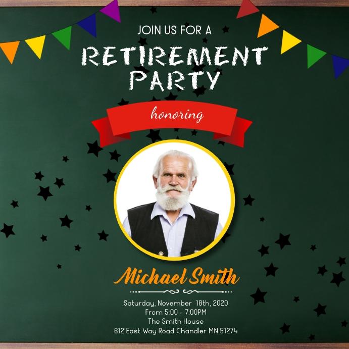 Retirement party social media post Instagram 帖子 template