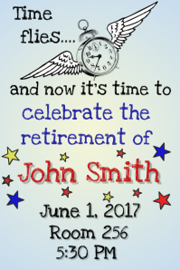 retirement flyer