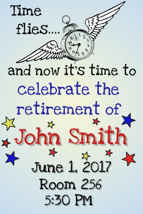 Retirement Flyer Customize Template