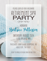 Retirement Spa Party Invitation Flyer (US Letter) template