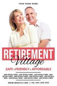 Retirement Village Poster template