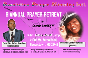 Retreat Flyer Template Church Ministry Prayer CAMP