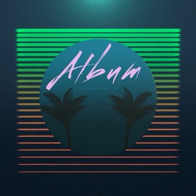 Retro 80s Noastalgic album cover video template