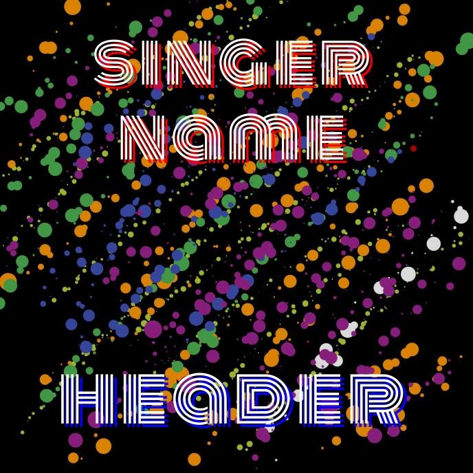 Retro Album Song Cover Albumcover template