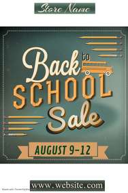 Retro Back to School Sale Poster