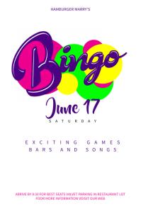 Retro Bingo Music Poster Template