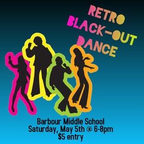 Retro Black Out Dance