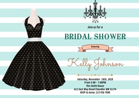 Retro bridal shower party invitation
