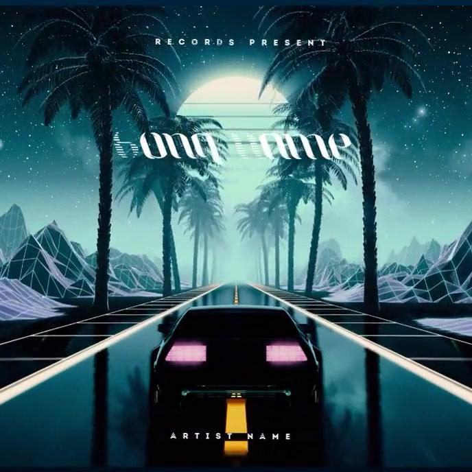 Retro Car 80's CD Album Cover Video Template