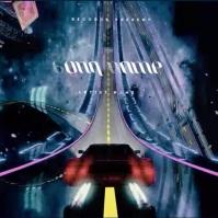 Retro Car 80's CD Album Cover Video Template Okładka albumu