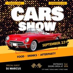 Retro Car Show Event Square Video
