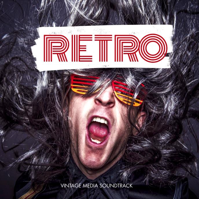 Retro CD Cover Album Portada de Álbum template