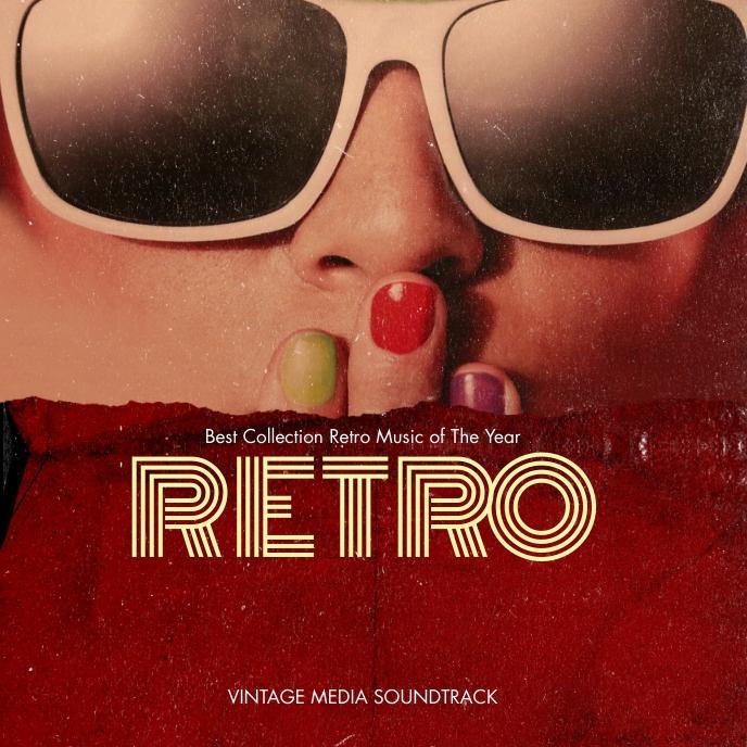 Retro CD Cover Album Albumcover template