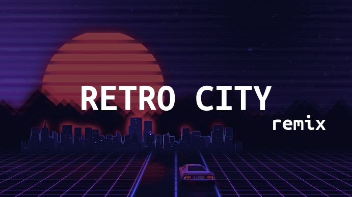 Retro City Music Youtube Thumbnail template