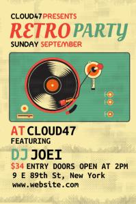 Retro Club Party Flyer Design