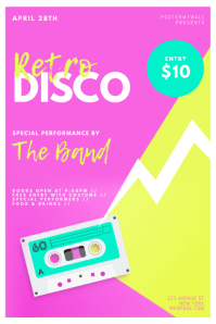 Retro Disco Flyer Design Template