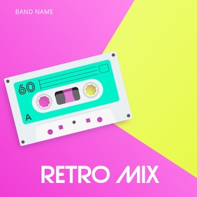 Retro Disco Mix Album Cover template ปกอัลบั้ม