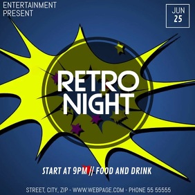 Retro Disco party video flyer template