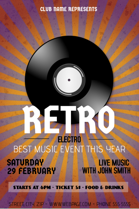 Retro Electro Flyer Template  Postermywall