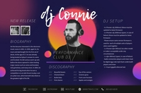 Retro Electronic Music Press Kit Poster Templ Плакат template