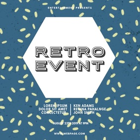 Retro Event Video Ad Template