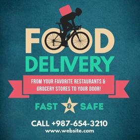 retro food delivery bike facebook instagram