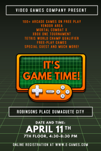 Retro Game LAN Party Poster