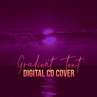 Retro Gradient Digital CD Cover Albumhoes template